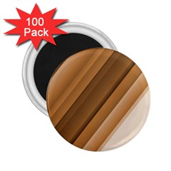 Metallic Brown/neige Stripes 2 25  Magnets (100 Pack)  by timelessartoncanvas