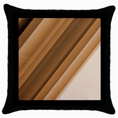 Metallic Brown/neige Stripes Throw Pillow Cases (black) by timelessartoncanvas