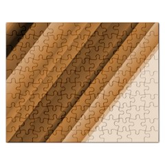 Metallic Brown/neige Stripes Rectangular Jigsaw Puzzl by timelessartoncanvas