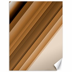 Metallic Brown/neige Stripes Canvas 18  X 24   by timelessartoncanvas