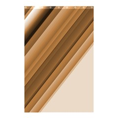 Metallic Brown/neige Stripes Shower Curtain 48  X 72  (small)  by timelessartoncanvas