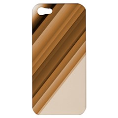 Metallic Brown/neige Stripes Apple Iphone 5 Hardshell Case by timelessartoncanvas