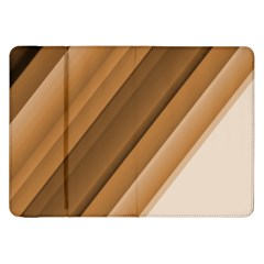 Metallic Brown/Neige Stripes Samsung Galaxy Tab 8.9  P7300 Flip Case by timelessartoncanvas