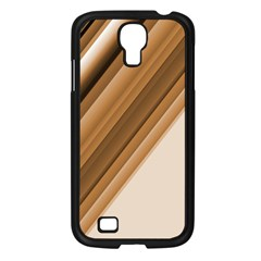 Metallic Brown/neige Stripes Samsung Galaxy S4 I9500/ I9505 Case (black) by timelessartoncanvas