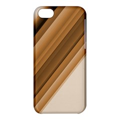 Metallic Brown/neige Stripes Apple Iphone 5c Hardshell Case by timelessartoncanvas
