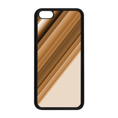 Metallic Brown/neige Stripes Apple Iphone 5c Seamless Case (black) by timelessartoncanvas