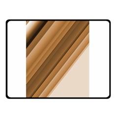 Metallic Brown/neige Stripes Double Sided Fleece Blanket (small)  by timelessartoncanvas