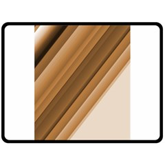 Metallic Brown/neige Stripes Double Sided Fleece Blanket (large)  by timelessartoncanvas