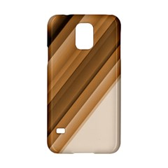 Metallic Brown/neige Stripes Samsung Galaxy S5 Hardshell Case  by timelessartoncanvas