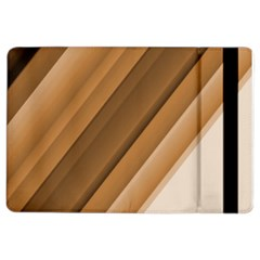 Metallic Brown/neige Stripes Ipad Air 2 Flip by timelessartoncanvas