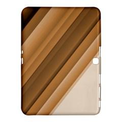 Metallic Brown/neige Stripes Samsung Galaxy Tab 4 (10 1 ) Hardshell Case  by timelessartoncanvas