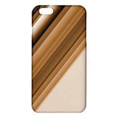 Metallic Brown/neige Stripes Iphone 6 Plus/6s Plus Tpu Case by timelessartoncanvas