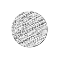 Silver Abstract And Stripes Magnet 3  (round) by timelessartoncanvas