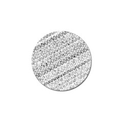 Silver Abstract And Stripes Golf Ball Marker by timelessartoncanvas
