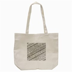 Silver Abstract And Stripes Tote Bag (cream) by timelessartoncanvas