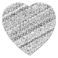 Silver Abstract And Stripes Jigsaw Puzzle (heart) by timelessartoncanvas