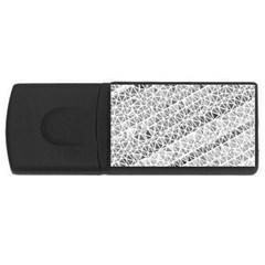 Silver Abstract And Stripes Usb Flash Drive Rectangular (4 Gb)  by timelessartoncanvas