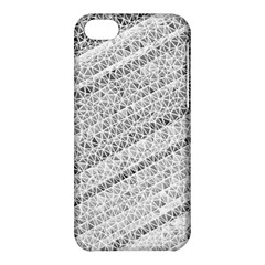 Silver Abstract And Stripes Apple Iphone 5c Hardshell Case by timelessartoncanvas