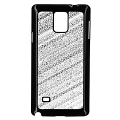 Silver Abstract And Stripes Samsung Galaxy Note 4 Case (black) by timelessartoncanvas