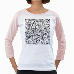 Silver Abstract Design Girly Raglans by timelessartoncanvas