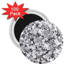 Silver Abstract Design 2 25  Magnets (100 Pack)  by timelessartoncanvas