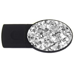 Silver Abstract Design Usb Flash Drive Oval (2 Gb)  by timelessartoncanvas