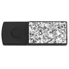 Silver Abstract Design Usb Flash Drive Rectangular (4 Gb)  by timelessartoncanvas