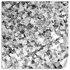 Silver Abstract Design Canvas 12  X 12   by timelessartoncanvas
