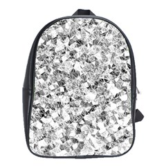 Silver Abstract Design School Bags(large)  by timelessartoncanvas