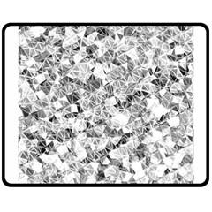 Silver Abstract Design Fleece Blanket (medium)  by timelessartoncanvas