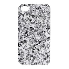 Silver Abstract Design Apple Iphone 4/4s Premium Hardshell Case by timelessartoncanvas