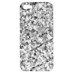 Silver Abstract Design Apple Iphone 5 Hardshell Case by timelessartoncanvas