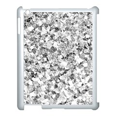 Silver Abstract Design Apple Ipad 3/4 Case (white) by timelessartoncanvas