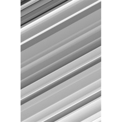 Elegant Silver Metallic Stripe Design 5 5  X 8 5  Notebooks by timelessartoncanvas