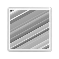 Elegant Silver Metallic Stripe Design Memory Card Reader (square)  by timelessartoncanvas