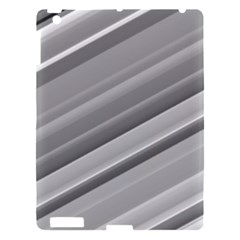 Elegant Silver Metallic Stripe Design Apple Ipad 3/4 Hardshell Case by timelessartoncanvas