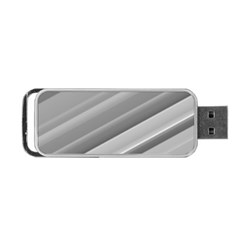 Elegant Silver Metallic Stripe Design Portable Usb Flash (two Sides) by timelessartoncanvas