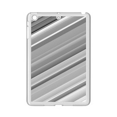 Elegant Silver Metallic Stripe Design Ipad Mini 2 Enamel Coated Cases by timelessartoncanvas