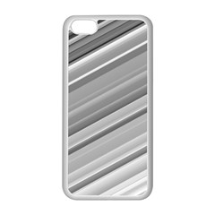 Elegant Silver Metallic Stripe Design Apple Iphone 5c Seamless Case (white) by timelessartoncanvas