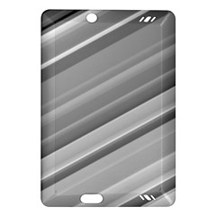 Elegant Silver Metallic Stripe Design Kindle Fire Hd (2013) Hardshell Case by timelessartoncanvas