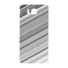 Elegant Silver Metallic Stripe Design Samsung Galaxy Alpha Hardshell Back Case by timelessartoncanvas