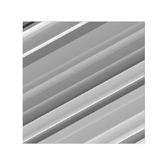 Elegant Silver Metallic Stripe Design Small Satin Scarf (square) by timelessartoncanvas