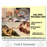 Art History - Wall Calendar 11  x 8.5  (18 Months)