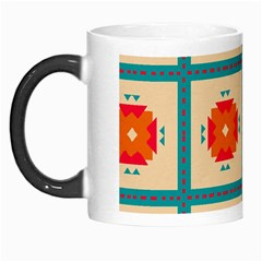 Shapes In Squares Pattern Morph Mug by LalyLauraFLM