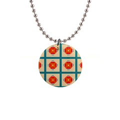 Shapes In Squares Pattern 			1  Button Necklace by LalyLauraFLM