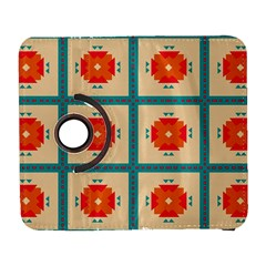 Shapes in squares pattern Samsung Galaxy S III Flip 360 Case by LalyLauraFLM