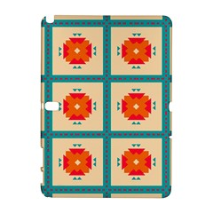 Shapes In Squares Pattern 			samsung Galaxy Note 10 1 (p600) Hardshell Case by LalyLauraFLM
