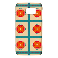 Shapes In Squares Pattern 			samsung Galaxy S6 Hardshell Case by LalyLauraFLM
