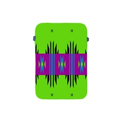 Tribal Shapes On A Green Background apple Ipad Mini Protective Soft Case by LalyLauraFLM