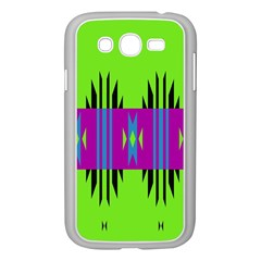 Tribal Shapes On A Green Background 			samsung Galaxy Grand Duos I9082 Case (white) by LalyLauraFLM